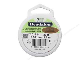 Beadalon Bead Wire 7 Strand .012 in. Satin Copper 30 ft.