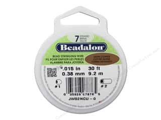 beadalon steel wire: Beadalon Bead Wire 7 Strand .015 in. Satin Copper 30 ft.