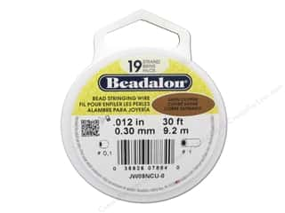 Beadalon Wildfire Bead Thread: Beadalon Bead Wire 19 Strand .015 in. Satin Copper 30 ft.