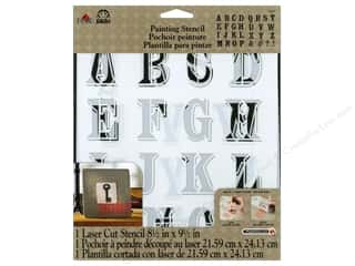 Plaid Alphabet Stencil 8 1/2 x 9 1/2 in. Peddler