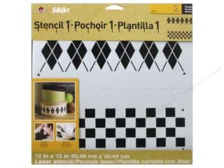 Plaid Stencil Designer Argyle Set