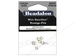 twine: Beadalon Wire Guardian .022 in. Sterling Silver 6 pc.
