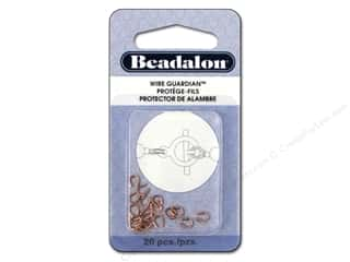 twine: Beadalon Wire Guardian .022 in. Copper Plated 20 pc.