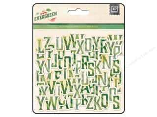 chipboard letters: BasicGrey Chipboard Alphabet Stickers Evergreen