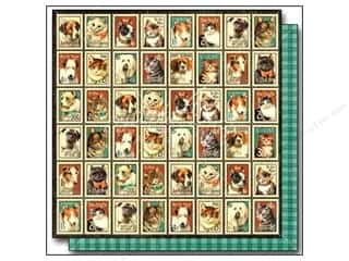 Graphic 45: Graphic 45 12 x 12 in. Paper Raining Cats & Dogs Mr. Whiskers (25 sheets)