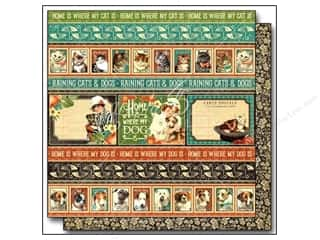 Graphic 45: Graphic 45 12 x 12 in. Paper Raining Cats & Dogs Animal House (25 sheets)