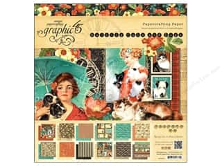 Weekly Specials Graphic 45 Paper Pad: Graphic 45 12 x 12 in. Paper Pad Raining Cats & Dogs