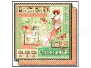 "Celebration Cardstock: Graphic 45 Time to Celebrate Paper 12""x 12"" (25 sheets)"