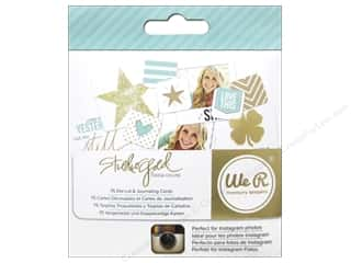 Clearance Bazzill Lickety Slip Journaling Cards: We R Memory Cards Studio Gold Teresa Collins Journal Instagram