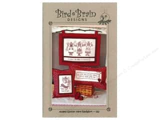 Bird Brain Designs Angels Gather Here Redwork Pattern