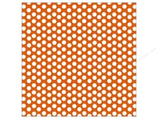 Canvas Corp 12 x 12 in. Paper Orange & White Dot Reverse (15 sheets)