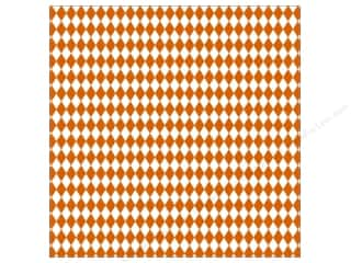 Canvas Corp 12 x 12 in. Paper Orange & White Diamond (15 sheets)