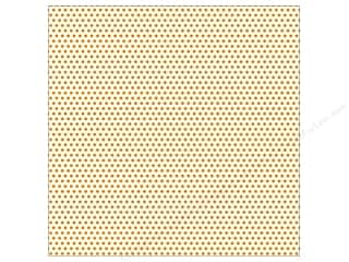 paper white: Canvas Corp 12 x 12 in. Paper Orange & Ivory Mini Dots (15 sheets)
