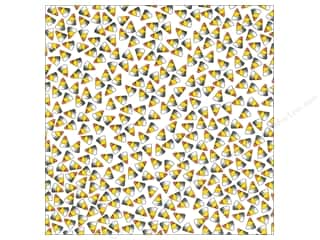 Canvas Corp 12 x 12 in. Paper Candy Corn on White