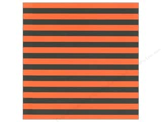 Canvas Corp 12 x 12 in. Paper Halloween Stripe on White (15 sheets)