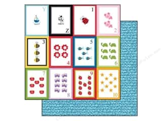 Bella Blvd 12 x 12 in. Paper Tiny Tots Flashcards YZ123 (25 sheets)