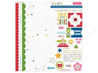 scrapbooking & paper crafts: Bella Blvd Stickers Tiny Tots Treasures & Text (12 sets)