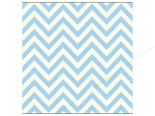 Canvas Corp 12 x 12 in. Paper Blue & Ivory Chevron (15 sheets)