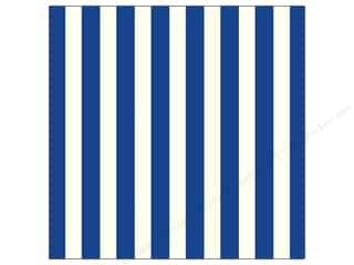 Canvas Home Basics: Canvas Corp 12 x 12 in. Paper Navy & Ivory Big Stripe (15 sheets)