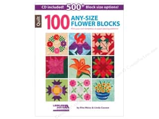 Computer Software / CD / DVD: Leisure Arts 100 Any-Size Flower Blocks Book