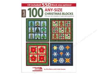 Computer Software / CD / DVD: Leisure Arts 100 Any-Size Christmas Blocks Book