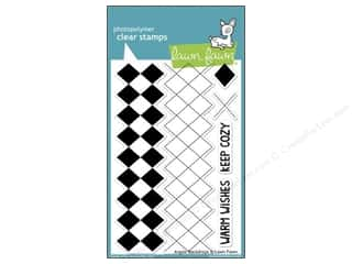 Clearance Plaid Stamps Clear: Lawn Fawn Clear Stamp Backdrops Argyle