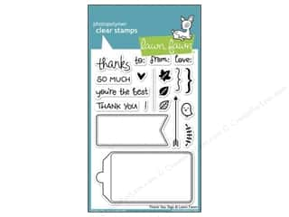 Clearance Plaid Stamps Clear: Lawn Fawn Clear Stamp Thank You Tags
