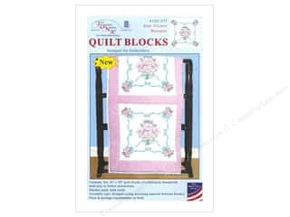 Jack Dempsey 18 in. Quilt Blocks 6 pc. Star Flower Bouquet