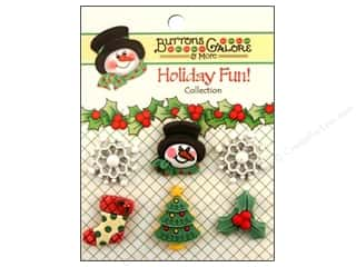 Buttons Galore Holiday Fun Buttons 6 pc. Winter Wonderland