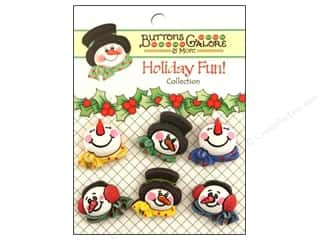 Buttons Galore Holiday Fun Buttons 6 pc. Snowman Medley