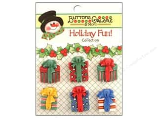 Buttons Galore Holiday Fun Buttons 6 pc. Christmas Presents