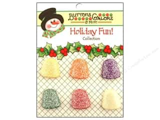 Buttons Galore Holiday Fun Buttons 6 pc. Gumdrops