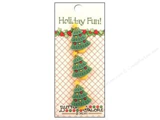 Buttons Galore Holiday Fun Buttons 3 pc. Christmas Tree