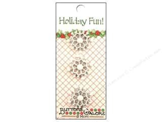 Buttons Galore Holiday Fun Buttons 3 pc. Snowflakes