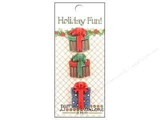 Buttons Galore Holiday Fun Buttons 3 pc. Traditional Presents