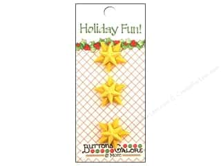 novelties: Buttons Galore Holiday Fun Buttons 3 pc. Christmas Star