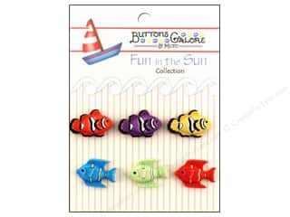 Quilted Fish, The: Buttons Galore Fun In The Sun Buttons 6 pc. Exotic Fish
