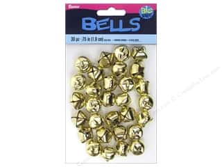 craft & hobbies: Darice Jingle Bells 3/4 in. Gold 30 pc.
