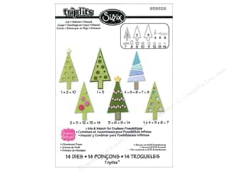 Sizzix Dies Set Christmas Trees by Stephanie Barnard