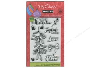 Clearance Plaid Stamps Clear: Hero Arts Poly Clear Stamps Under The Mistletoe