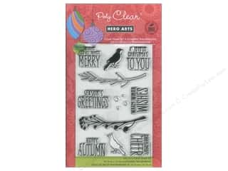 Clearance Art Impressions Rubber Stamp: Hero Arts Poly Clear Stamps Bird & Branch Christmas