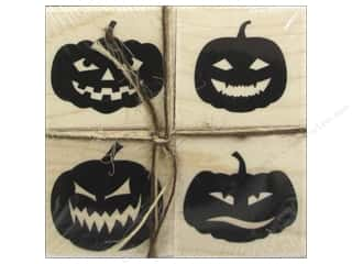 Rubber Stamps: Hero Arts Rubber Stamp Set Faces For Halloween