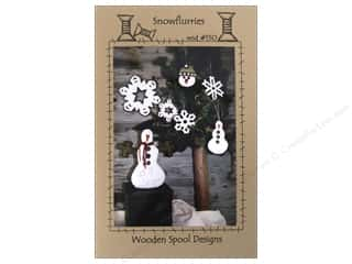 Clearance: Wooden Spool Designs Snowflurries Pattern