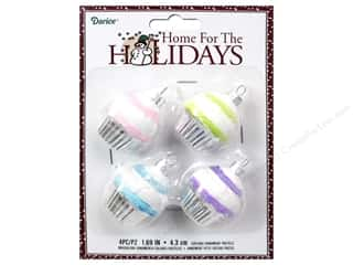 Clearance: Darice Holiday Ornament Cupcake Pastels 4pc