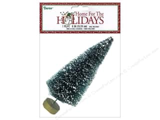 craft & hobbies: Darice Sisal Tree 6 in. Green with Frost 1 pc.