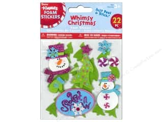 Clearance Darice Foamies Sticker: Darice Foamies Stickers Whimsy Christmas 22 pc.