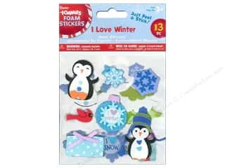Clearance Darice Foamies Sticker: Darice Foamies Stickers I Love Winter 13 pc.