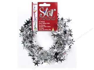 craft & hobbies: Darice Star Garland 25 ft. Silver