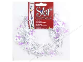craft & hobbies: Darice Snowflake Garland 25 ft. Iridescent White