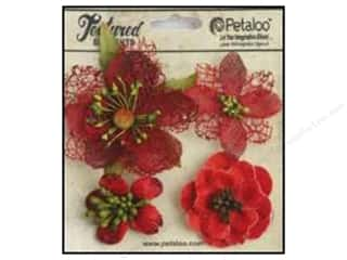 Petaloo Textured Elements Blossoms Red